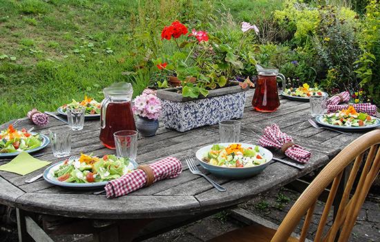 Loch Arthur, Camphill Community, Table setting, Garden
