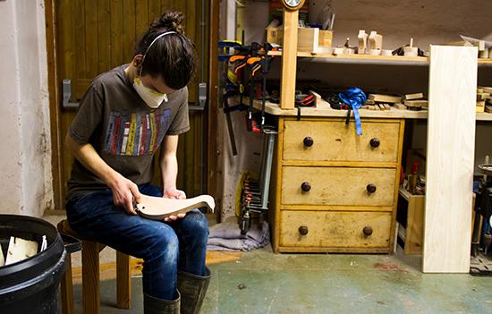 Loch Arthur Camphill Community, Wood Workshop, working, sanding
